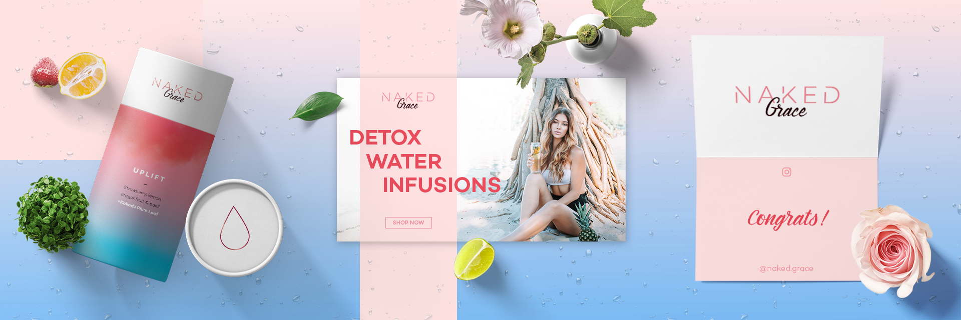 Branding and Digital design, web, ui/ux for a water infusion startup