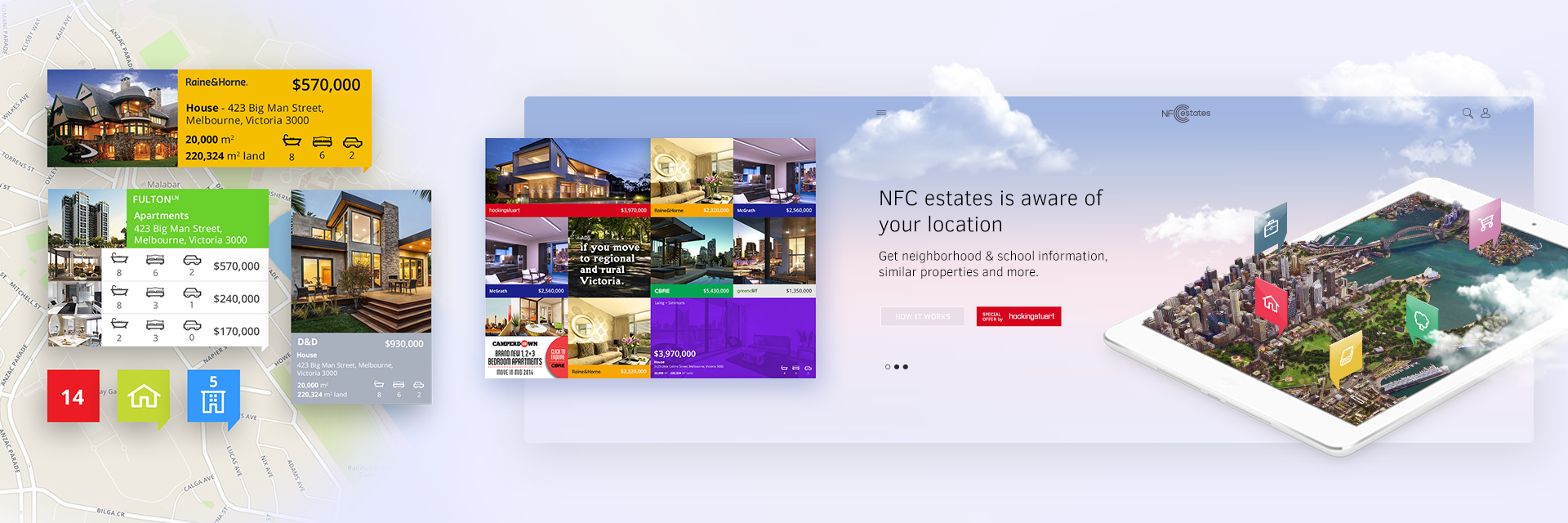 Branding and Digital design, web, ui/ux for a Realestate online website